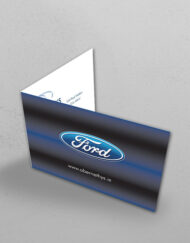 flanagan print folded business cards