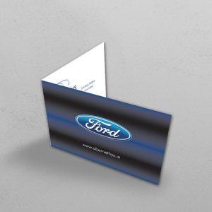 flanagan print folded business cards